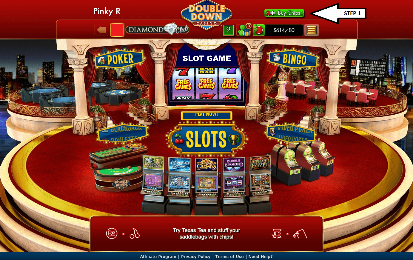 double down casino code